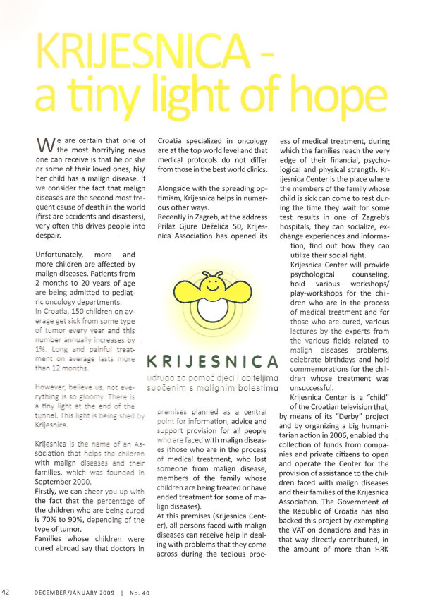 In Focus: A thiny light of hope 2009.