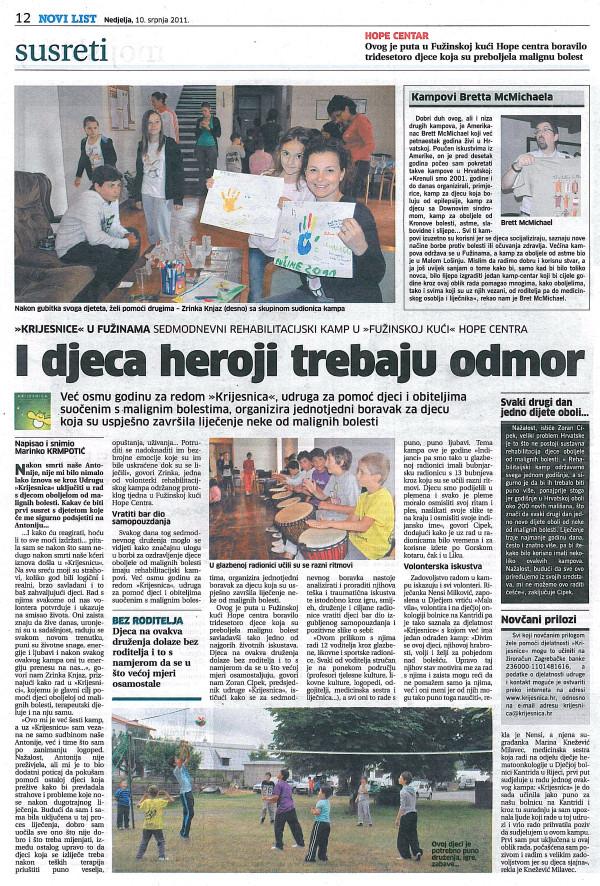 Novi list: Kamp 2011.