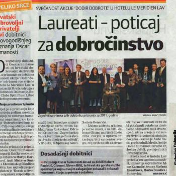 Slobodna Dalmacija: Oskar humanosti 2011.
